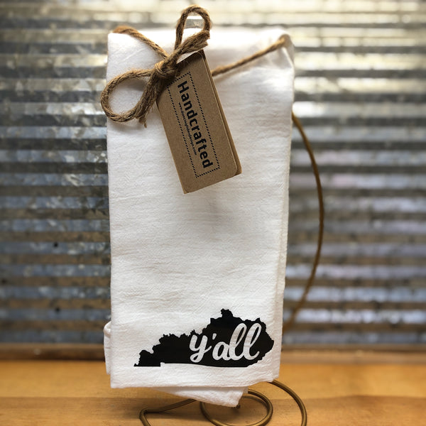 Handcrafted Y'All Kentucky Tea Towel
