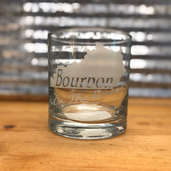 Kentucky Bourbon on the Rocks Glass