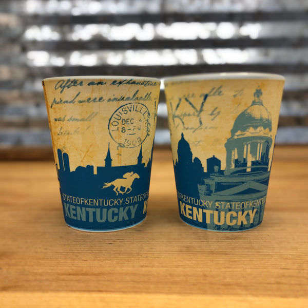 Kentucky Postcard Shot Glass