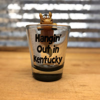 Hangin' Out in Kentucky Shot Glass