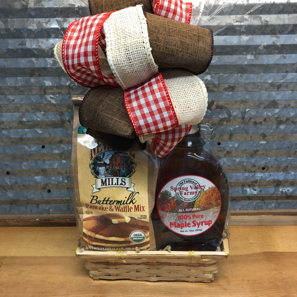 Buttermilk Pancakes and Maple Syrup Gift Basket