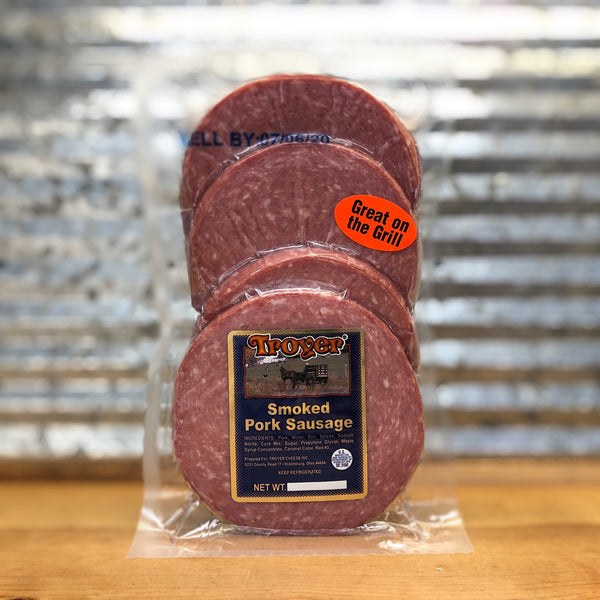 Troyer Smoked Pork Sausage Slices