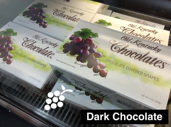 Old Kentucky Chocolates Dark Chocolate Covered Grapes