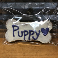 "Paw Prints Decorated ""Puppy"" Dog Treat"
