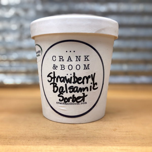Crank & Boom Strawberry Balsamic Sorbet