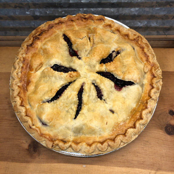 "Fresh Baked Blackberry Pie 9"" Pie"