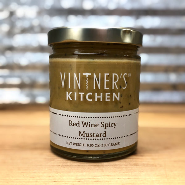Vintner's Kitchen Red Wine Spicy Mustard