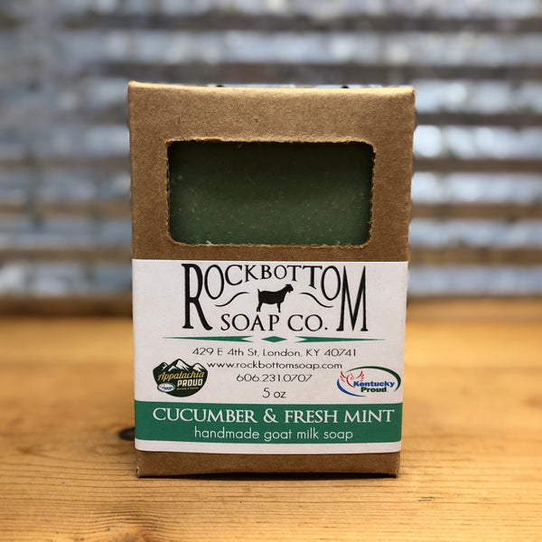 Rock Bottom Cucumber & Fresh Mint Goat Milk Soap