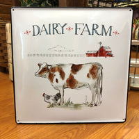 Dairy Farm with Cow Metal Wall Decor