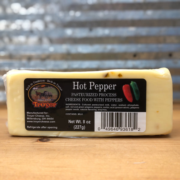 Troyer Hot Pepper Pasteurized Cheese