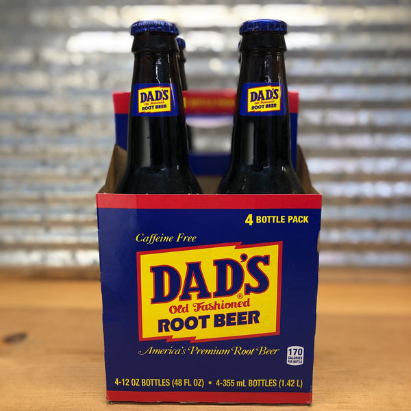 Dad's Root Beer Soda Glass Bottle 4pk