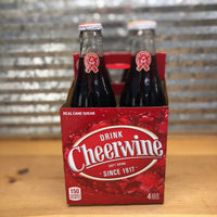 Cheerwine Soda Glass Bottle 4pk