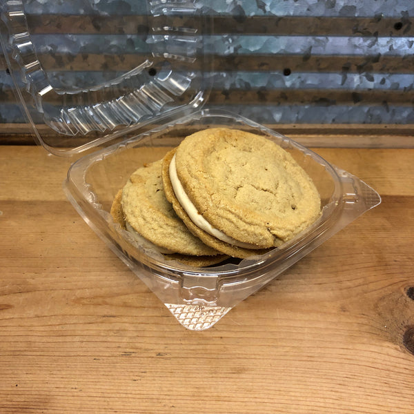 Fresh Baked Peanut Butter PB Cream Cookies Sandwiches 2 Pack