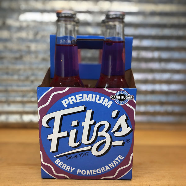 Fitz Berry Pomegranate Soda Glass Bottle 4pk