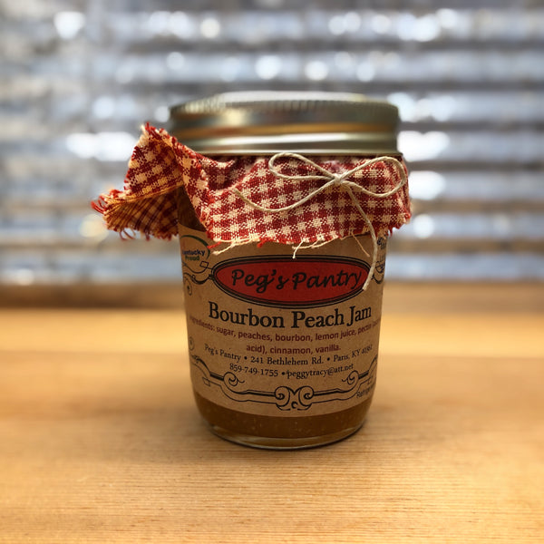 Peg's Pantry Bourbon Peach Jam