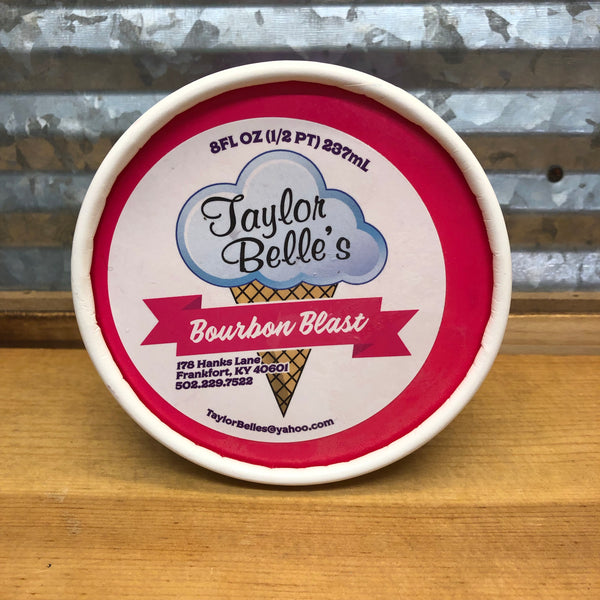 Taylor Belle's Bourbon Blast Ice Cream 1/2 pint