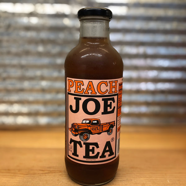 Joe's Peach Tea Glass Bottle