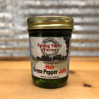 Spring Valley Farms Hot Green Pepper Jelly