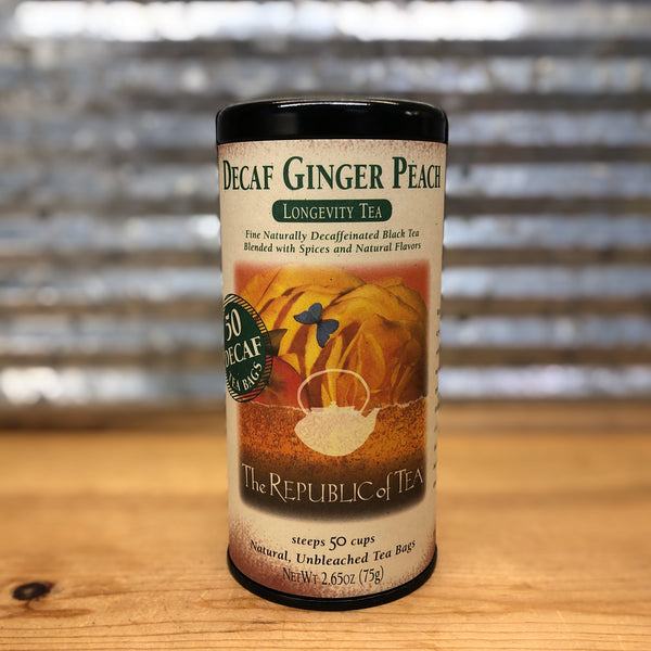 The Republic of Tea Ginger Peach - Decaf Black