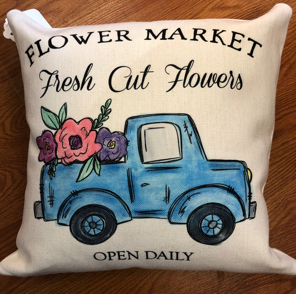 Pillow - Flower Market Truck