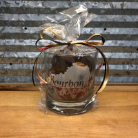 Rocks Glass filled with Woodford Reserve Bourbon Balls