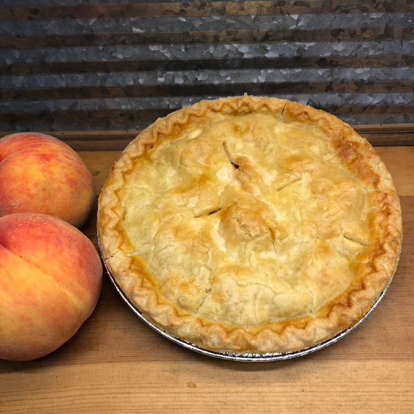 "Fresh Baked Peach Pie 9"" Pie"