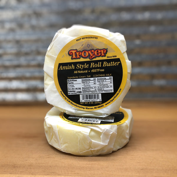 Troyer Salted Amish Roll Butter 8oz