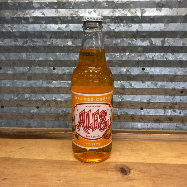 Ale8 Orange Cream Soda Glass Bottle