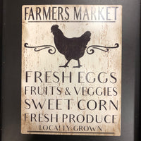 Farmers Market Metal Wall Decor and Table Stand