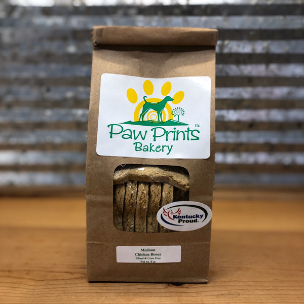 Paw Prints Medium Chicken Bones Dog Treats Bag
