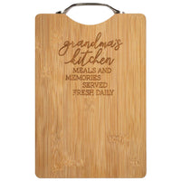 Grandma's Kitchen Bamboo Cutting Board