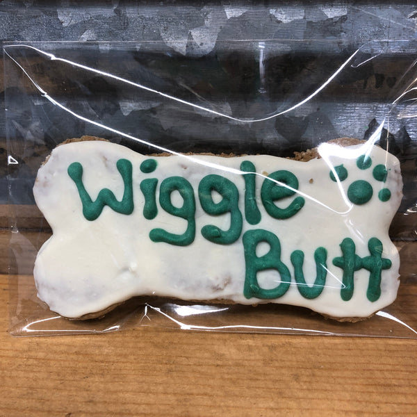 "Paw Prints Decorated ""Wiggle Butt"" Dog Treat"