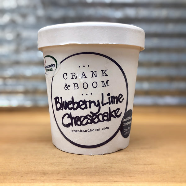 Crank & Boom Blueberry Lime Cheesecake Ice Cream