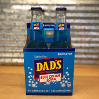 Dad's Blue Cream Soda Glass Bottle 4pk