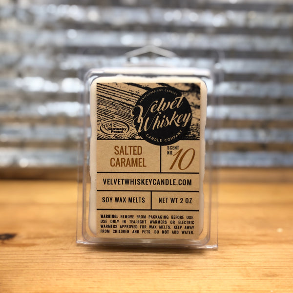 Velvet Whiskey Salted Caramel Wax Melt