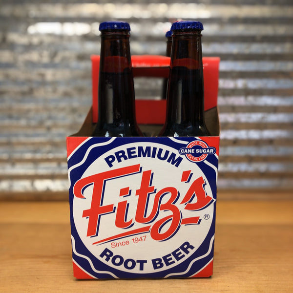 Fitz Root Beer Soda Glass Bottle 4pk