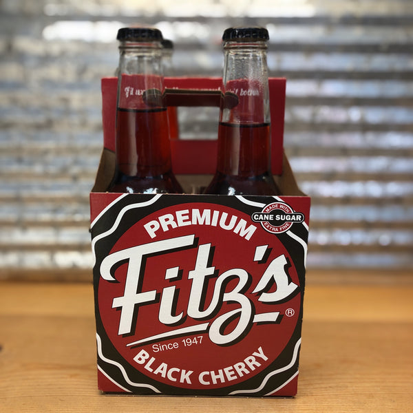 Fitz Black Cherry Soda Glass Bottle 4pk