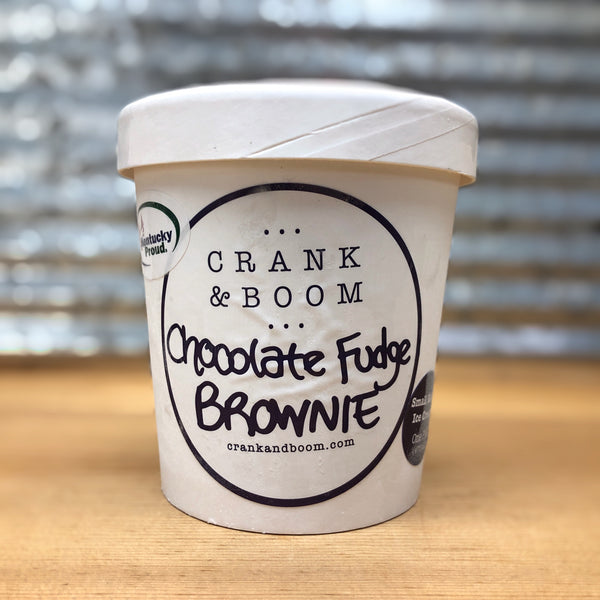 Crank & Boom Chocolate Fudge Brownie Ice Cream