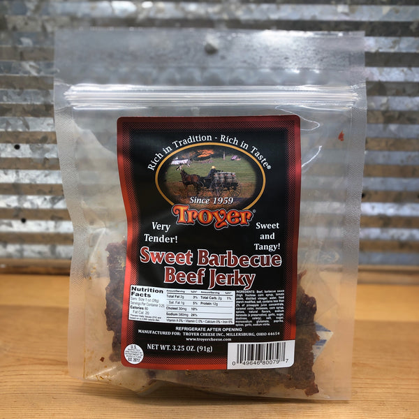 Troyer Sweet Barbecue Beef Jerky