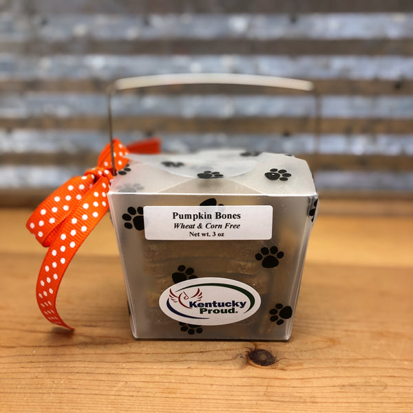 Paw Prints Pumpkin Dog Treats Gift Box