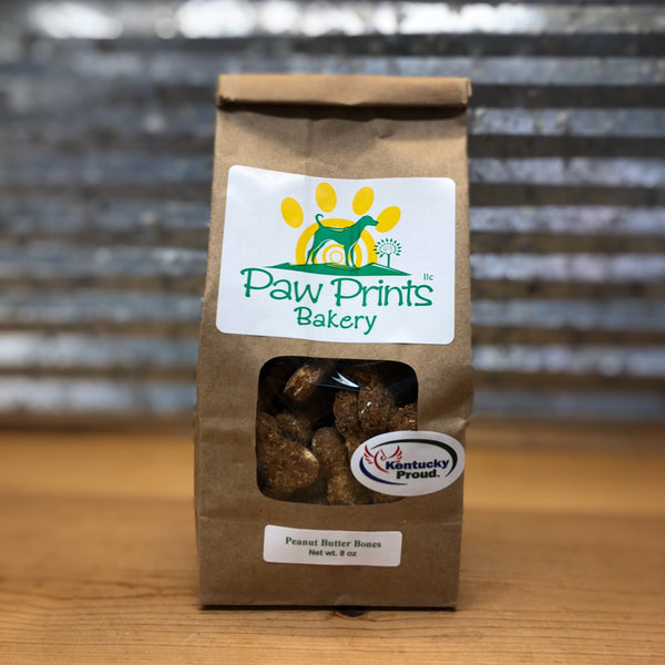 Paw Prints Peanut Butter Dog Treats Bag