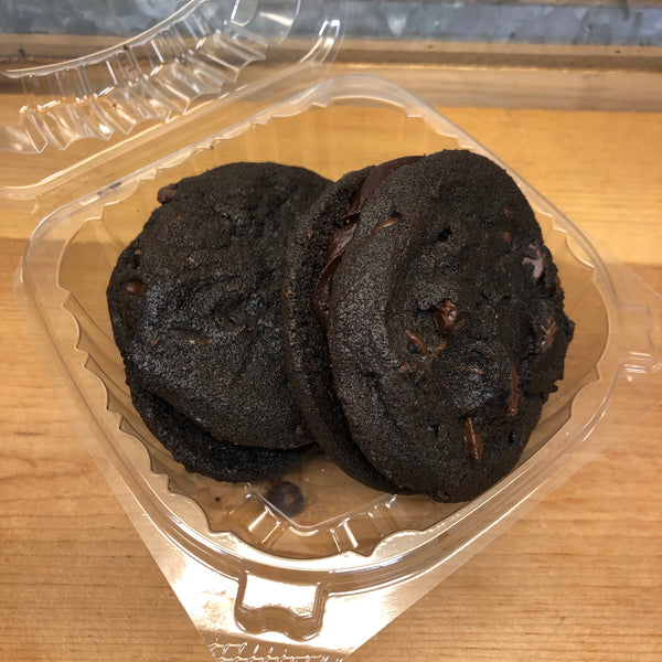 Fresh Baked Triple Chocolate Cookies Sandwiches 2 Pack