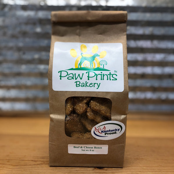 Paw Prints Beef & Cheese Dog Treats Bag