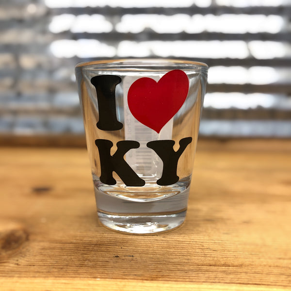 I Heart KY Shot Glass