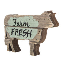 Farm Fresh Wood Cow Decor