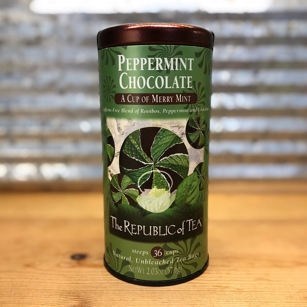 The Republic of Tea Peppermint Chocolate - Herbal Caffeine Free