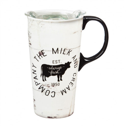 The Milk and Cream with Cow Travel Mug