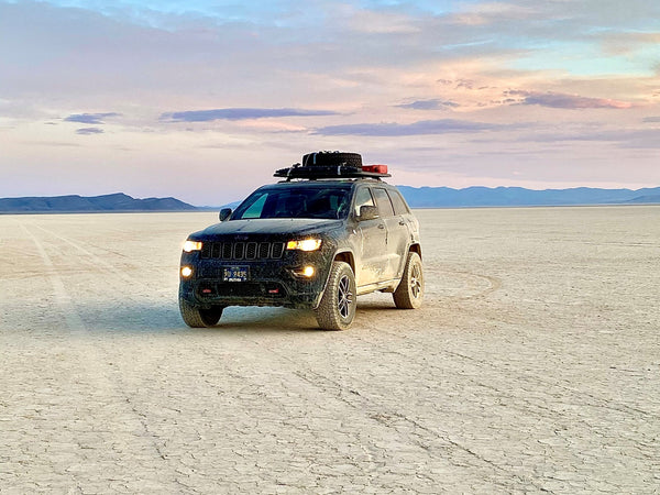 Jeep Off Roading in remote desert.