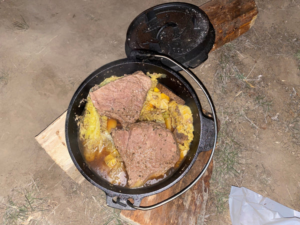 Campfire Cooked Pot Roast