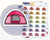Tent Icon: Camping Trip  Planner Stickers Midnight Snack Planner